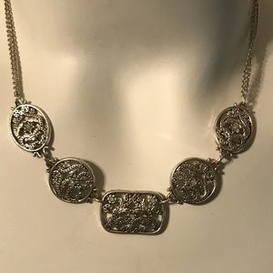 Vintage Sterling Silver and Diamond Necklace